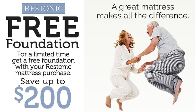Restonic FREE Foundation Mattress Sale